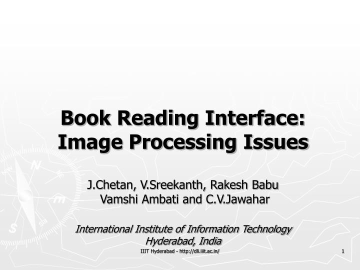 Book Reading Interface: Image Processing Issues