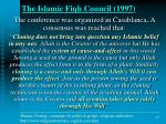 the islamic fiqh council 1997
