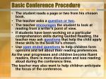 basic conference procedure