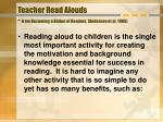 teacher read alouds from becoming a nation of readers anderson et al 1985