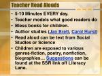 teacher read alouds