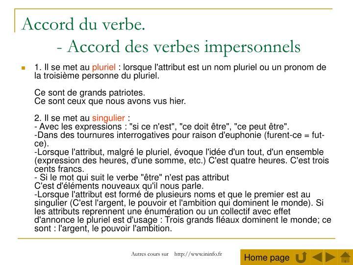 Czasowniki bezosobowe - słownictwo 4 - Francuski przy kawie