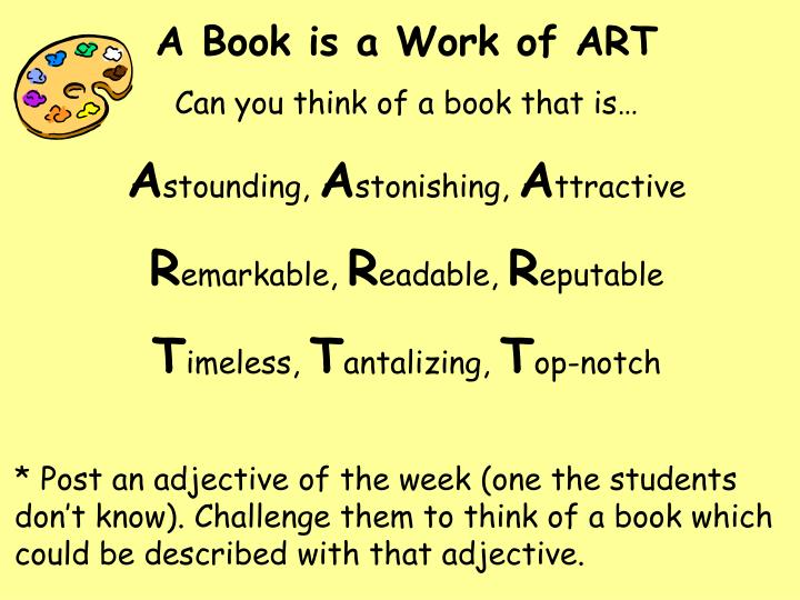 A Book is a Work of ART