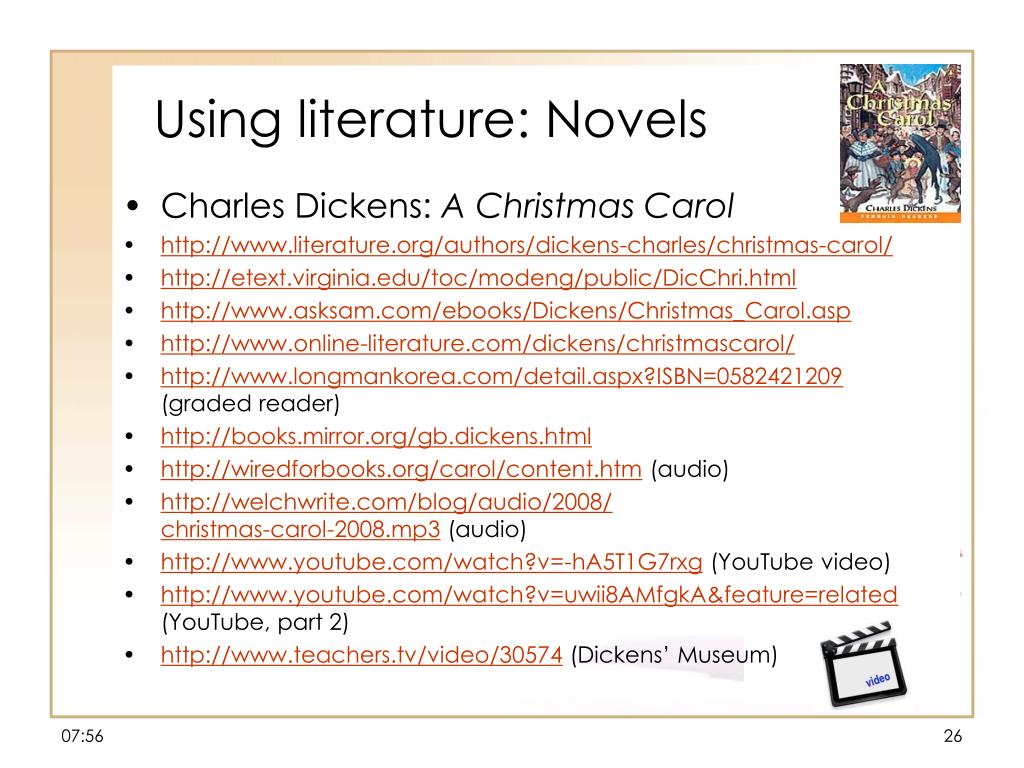 Using literature: Novels