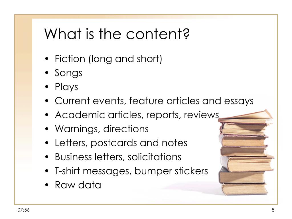 What is the content?