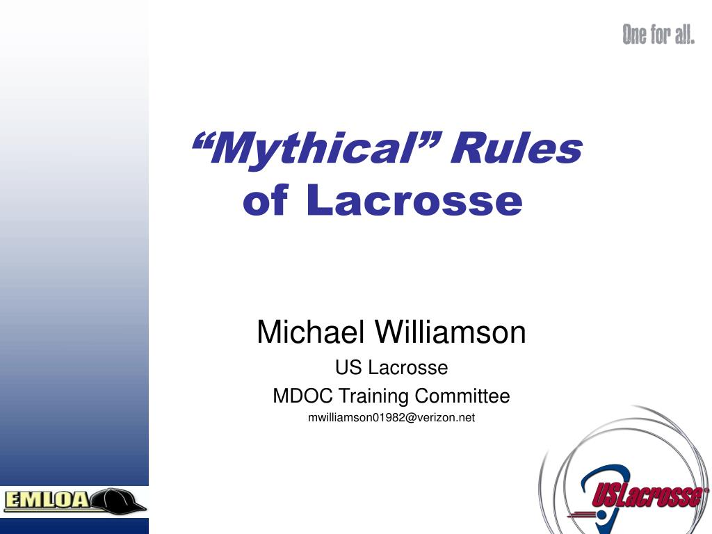 mythical rules of lacrosse l.