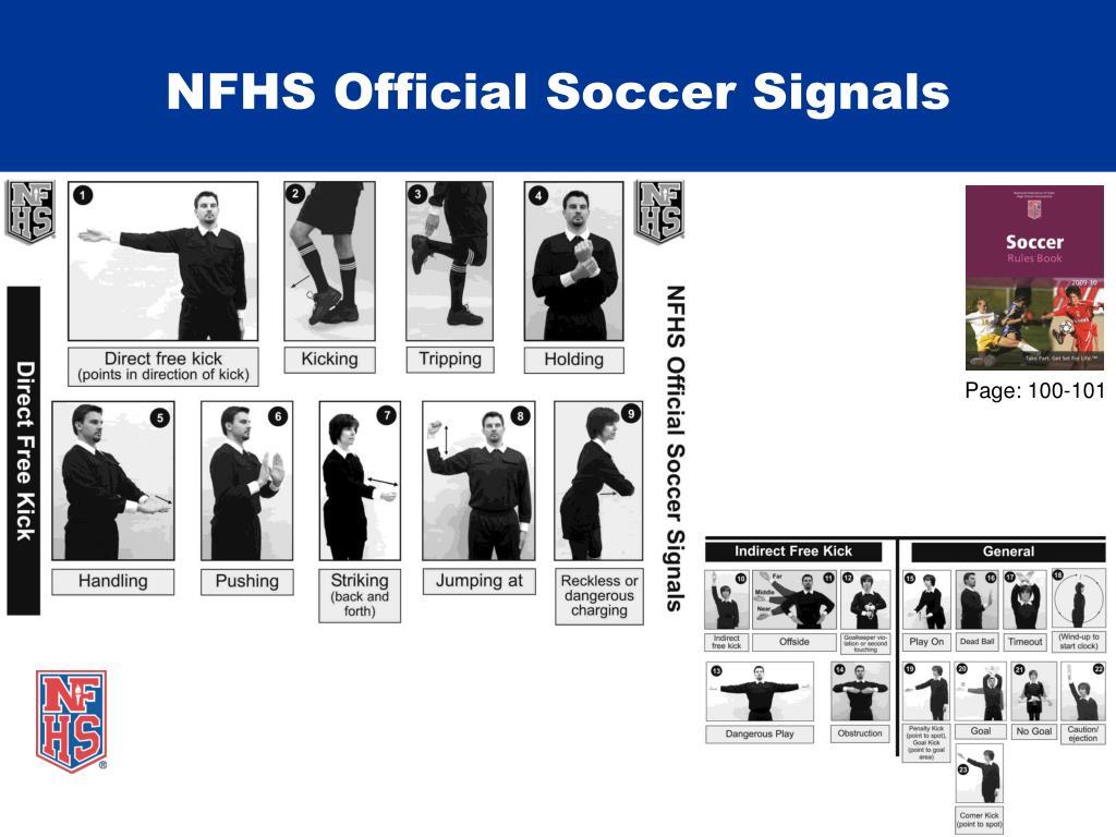 NFHS Official Soccer Signals