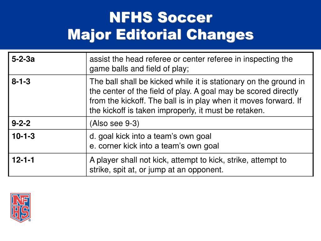 NFHS Soccer