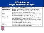 nfhs soccer major editorial changes29