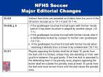 nfhs soccer major editorial changes30