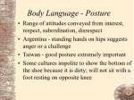 body language posture