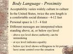 body language proximity
