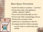 burn injury prevention