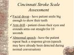 cincinnati stroke scale assessment