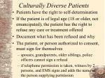 culturally diverse patients5