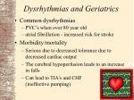 dysrhythmias and geriatrics