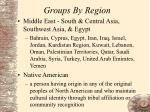 groups by region31