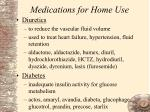 medications for home use97