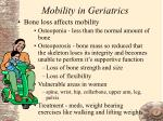 mobility in geriatrics