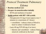 protocol treatment pulmonary edema