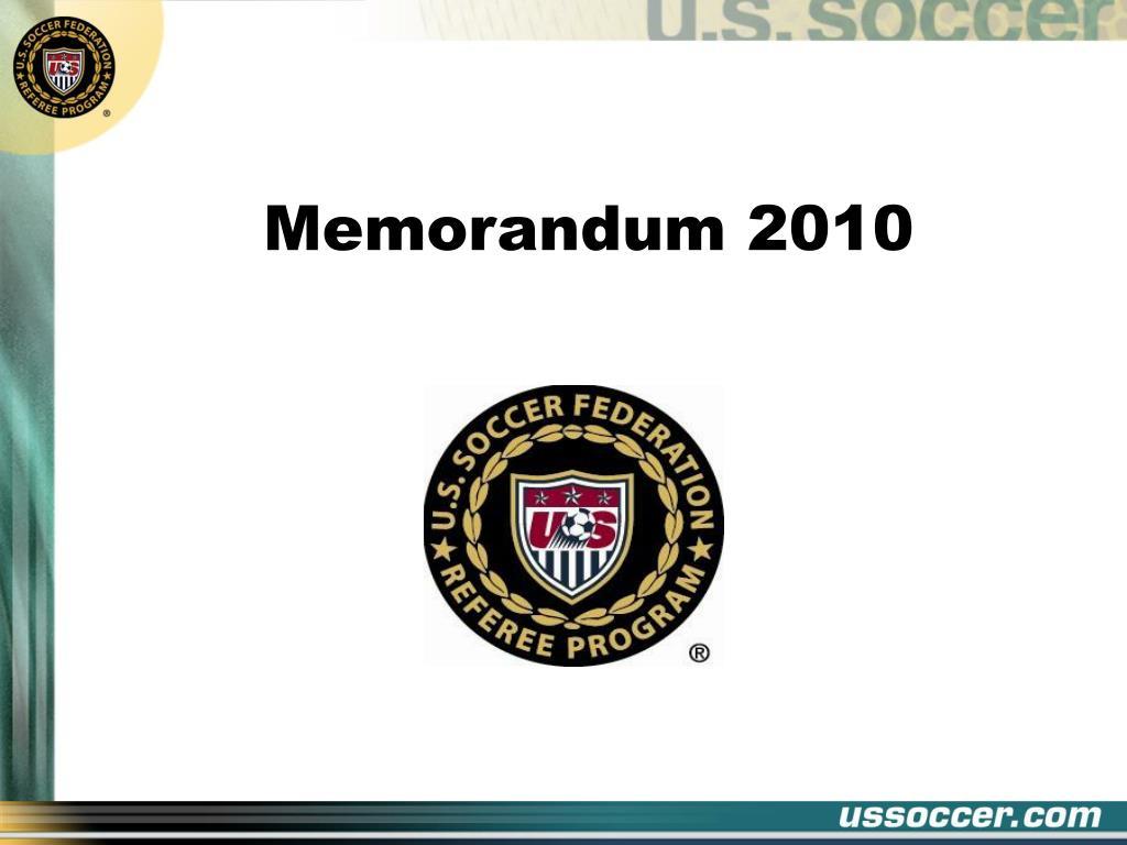 memorandum 2010 l.