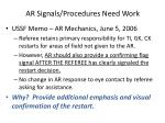 ar signals procedures need work