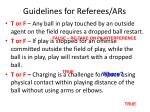 guidelines for referees ars24