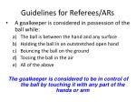 guidelines for referees ars28
