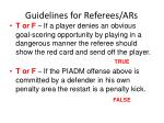 guidelines for referees ars30