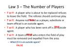 law 3 the number of players7