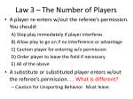 law 3 the number of players8