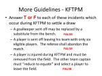 more guidelines kftpm