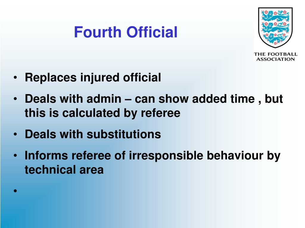 Fourth Official