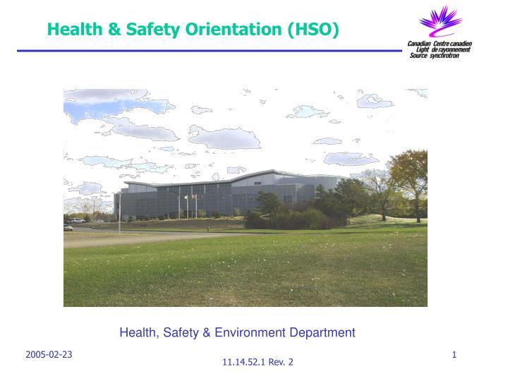 health safety orientation hso n.