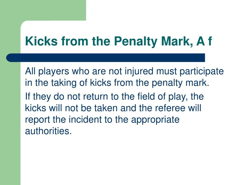 Kicks from the Penalty Mark, A f