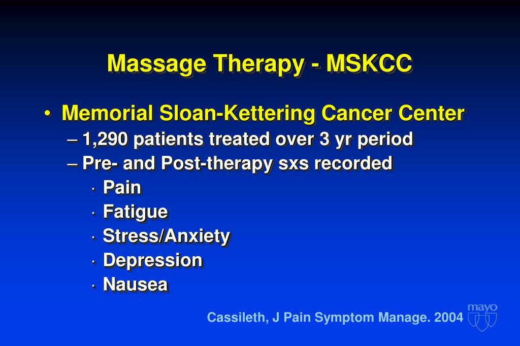 Massage Therapy - MSKCC
