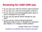 screening for child cam use