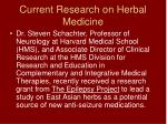 current research on herbal medicine