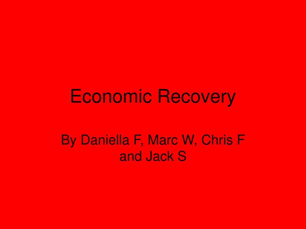 economic recovery l.