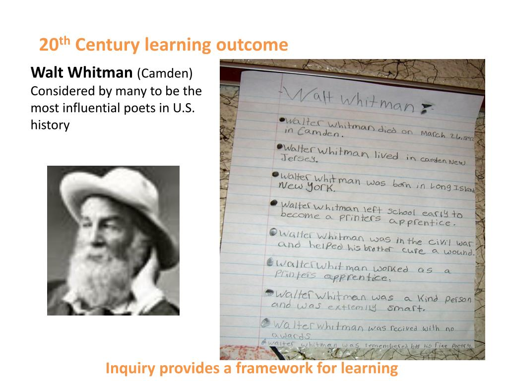 Inquiry provides a framework for learning