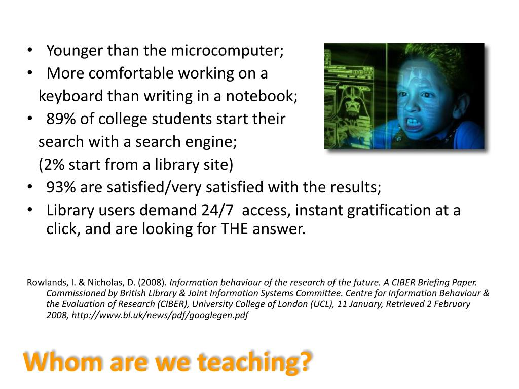 Whom are we teaching?