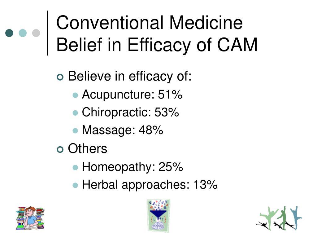 Conventional Medicine Belief in Efficacy of CAM