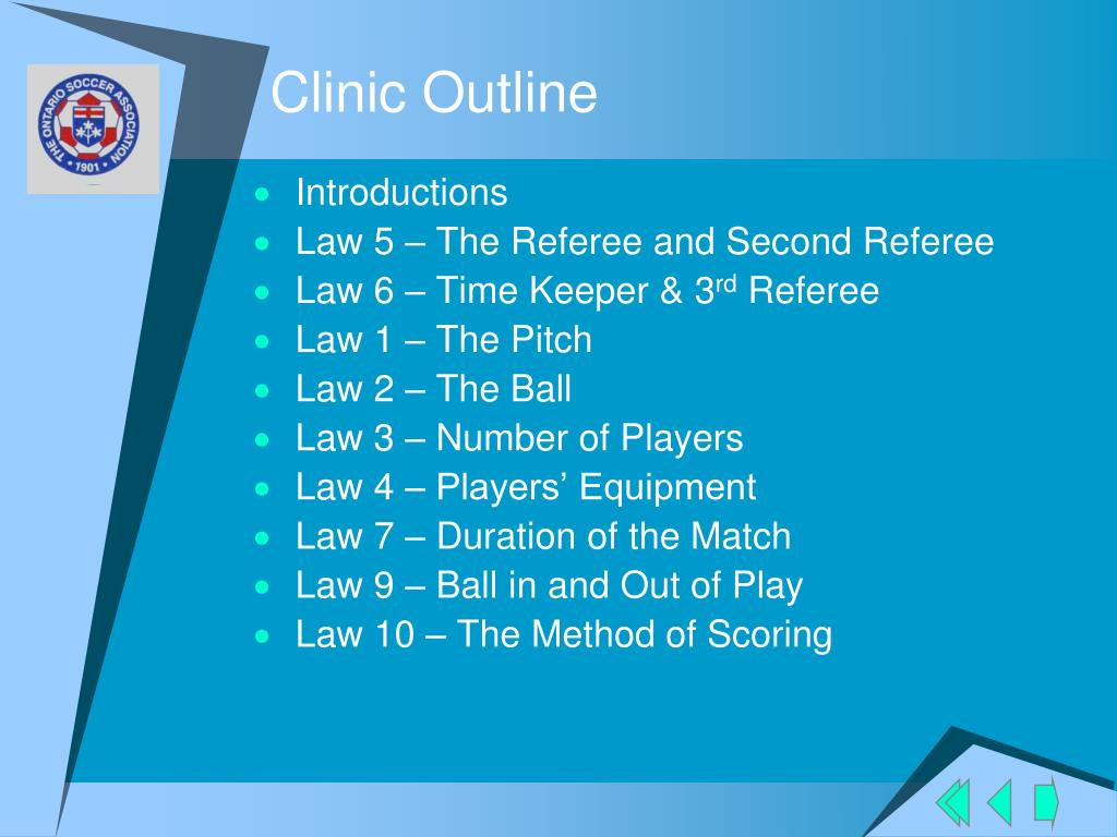 Clinic Outline