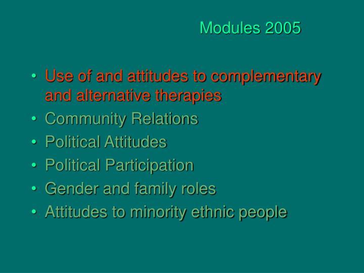 Modules 2005
