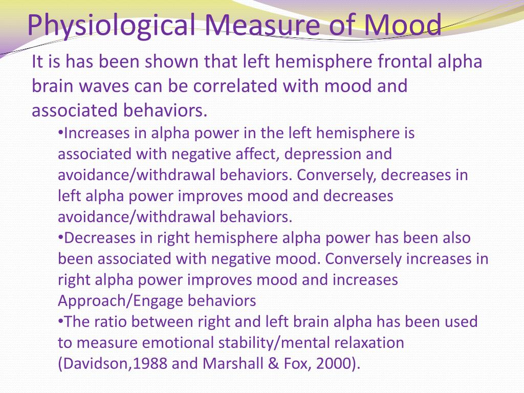 Physiological Measure of Mood