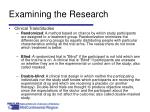 examining the research28