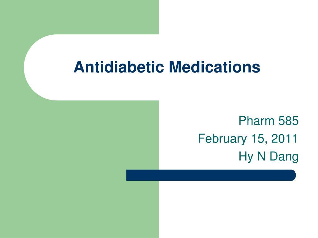 antidiabetic medications l.