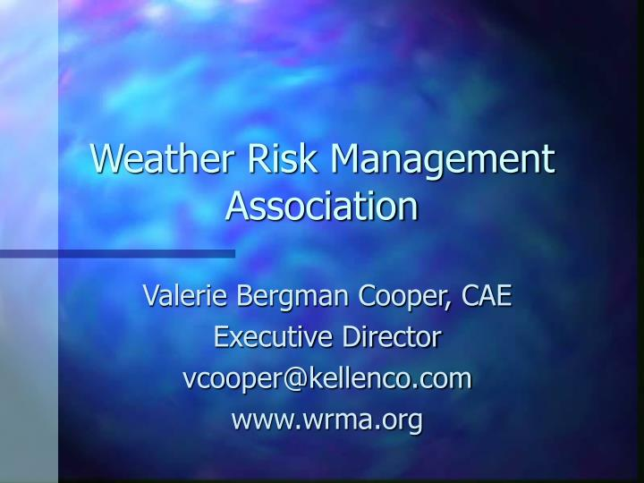 Weather Risk Management Association