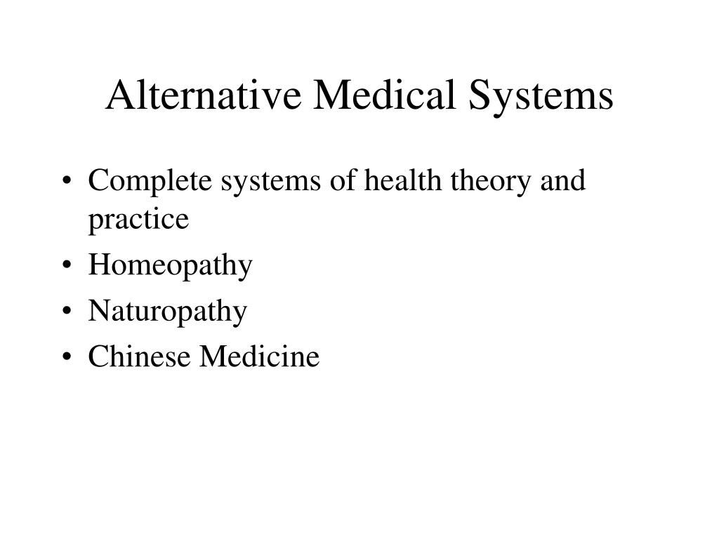 Alternative Medical Systems