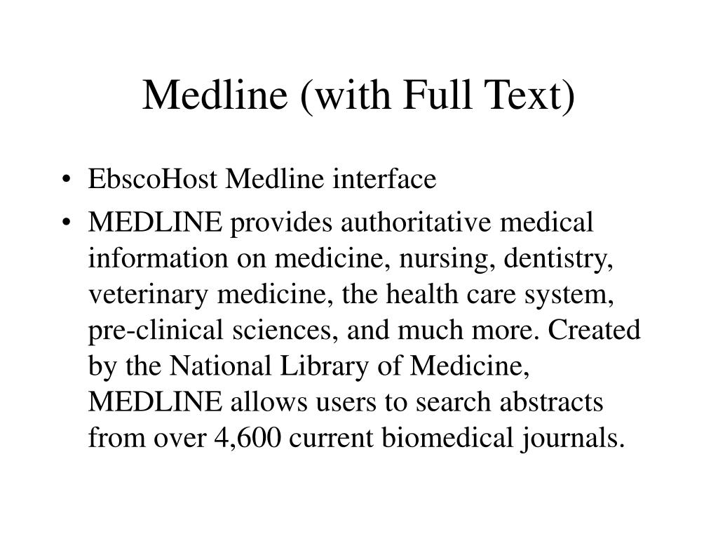 Medline (with Full Text)